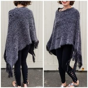 Geena Accessories | fuzzy poncho sweater